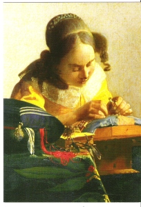 The Lacemaker, Vermeer Musee du Louvre