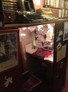 Study nook with Corona typewriter
