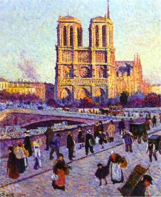 Luce_Maximilien-The_Quai_Saint-Michel_and_Notre-Dame