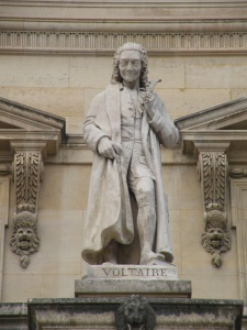 Voltaire statue Musee du Louvre