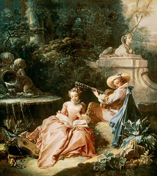 "Boucher ""The Music Lesson"""
