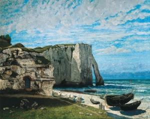 """Courbet """"La Falaise d'Etretat"""