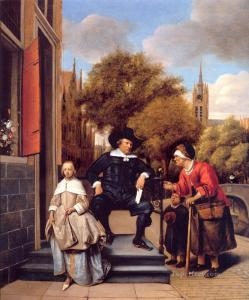 The Burgher of Delft and his Daughter, 1655 Jan Steen