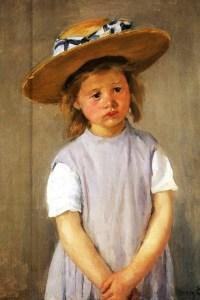Cassatt Child-In-A-Straw-Hat