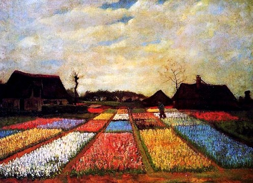 van gogh tulip fields in Holland