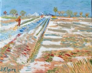 van gogh landscape snow mine