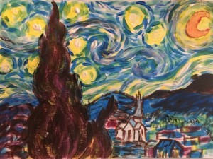 my copy van gogh starry night