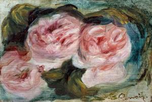 three roses, renoir