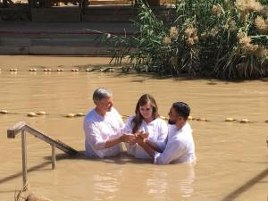 13 Pastor David baptizing daughter Jamie