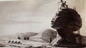 Savants measuring the Sphinx